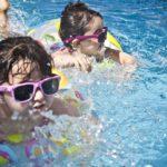 3歳長女 幼稚園でのプールの時間