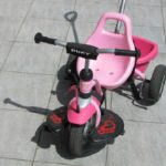 2歳の娘と三輪車